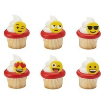 Bakery Supplies Emoticon Emoji Cupcake Rings - 24 Peices - $6.88
