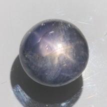 Star Sapphire Black Purple Unheated Gemstone 15.5 mm Round Cabochon 23.1... - $84.55