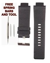 27mm Schwarz Leder Uhr Band für Diesel DZ1089 DSL149 - $28.49