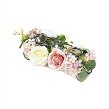 Blooming Faux Floral Candleholder Centerpiece - $19.89