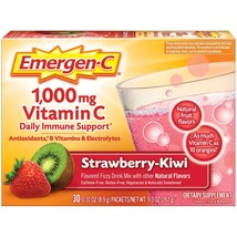 Emergen-C 1000 mg Vitamin C Daily Immune Support Strawberry Kiwi, 30 Ct - $16.99