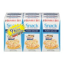 Bumble Bee 9 Piece Snack On The Run Tuna Salad with Crackers Kit, 3.5 Ounce - $28.66