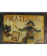 Pirates On The High Seas 24 Page Book and Wooden Model Ship Set 58 Piece... - $14.95