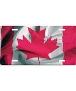 Canadian Canada Flag Metal Photo License Plate Tag - $12.85