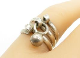 925 Sterling Silver - Vintage Split Shank Dangling Charm Band Ring Sz 6 ... - $27.33