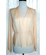 NEW J CREW Collection draped georgette silk blouse top 2 sand pink NWT $198 - $79.00