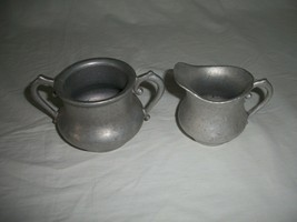 """Vintage Pewter Cream and Sugar Serving Bowl 3"""" tall - $10.00"""