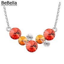 BeBella round bubbles pendant necklace with Crystals from Swarovski fashion crys image 4