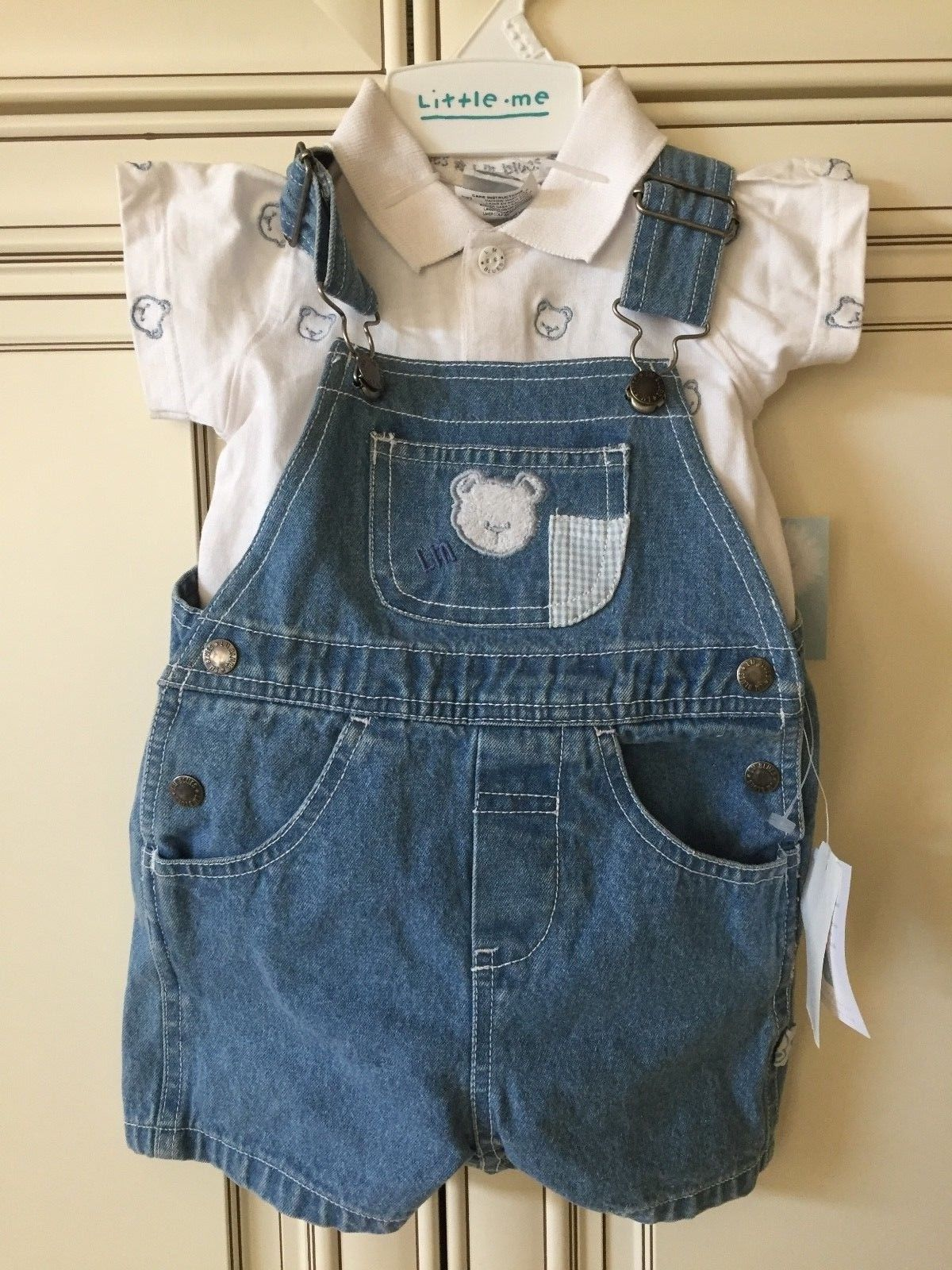 Girls NANNETTE seersucker shirt dress outfit 12-18 2T 3T 4T 5 6 NWT ruffle pants