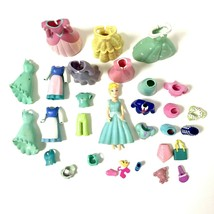 Polly Pocket Disney Princess Cinderella Doll with 22 Pieces of Clothing - $48.02