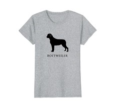 Rottweiler Shirt - black silhouette - $19.99+