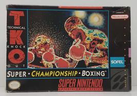 TKO Super Championship Boxing Super Nintendo SNES Box Only Original 1992... - $26.99