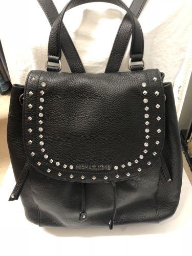 e073ecdb522a 12. 12. Previous. MICHAEL KORS Riley Black Large Pebbled leather Backpack  FREE SHIPPING. MICHAEL KORS Riley ...