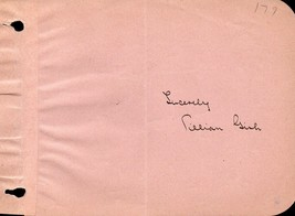 LILLIAN GISH Autograph. Nicely signed on album page. Birth of a Nation. - $173.25
