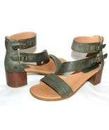 ✿ SPERRY TOP-SIDER Adelia York Buckle Olive Leather Sandals 8 EXCELLENT!... - $33.24