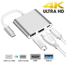Type C to HDMI Digital Multiport Hub Adapter with USB 3.0 & USB-C 3.1 - ... - $16.82