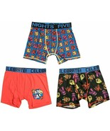 Five Nights At Freddy's Boy's Athletic Boxer Briefs Underoos LARGE 3 Pac... - £12.83 GBP