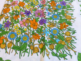 VTG Bassetti All cotton made in Italy for Kaufmann's Floral pattern tabl... - $37.87
