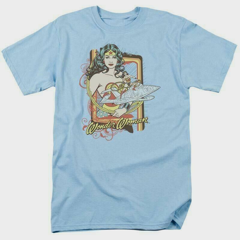 Wonder woman t shirt invisible jet dc comic book batman superhero tee dco234