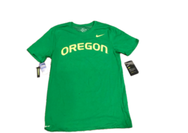 NWT New Oregon Ducks Nike Dri-Fit Cotton Wordmark Apple Green Medium T-S... - $27.67