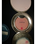 Vintage NORIDA Art Deco SILVER  Compact  powder & blush unused new/old s... - $29.65