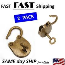 vintage look lock & key - Vintage padlock - $11.87