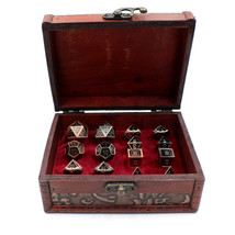 Twin DnD Dice Sets with Storage Chest for Dungeons and Dragons - $54.90