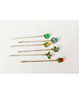 Novelty Sterling Silver and Enamel Cocktail Sticks c1930s Cased by A Sco... - $513.49