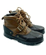 Polo Ralph Lauren Tyrek II Boots Mens Size 10 Leather Buckle Lace Up - $64.35