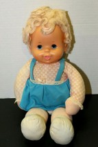 Vintage 1979 Ideal Toy Plush Baby Doll Squeeze Tummy Arms Move RARE!! 14... - $87.12
