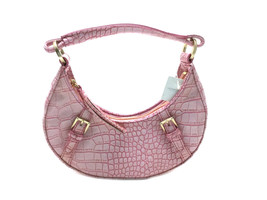 Liz Claiborne Small Faux Crocodile Alligator Purse Pink Handbag New with Tags - $24.53