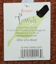 Shaggies Brand Cleaning Towel 017100 Copper Cents Color 100 Percent Cotton image 3