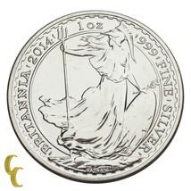 2014 Gran Bretagna Britannia Argento 2 Pound 1 Oncia (Bu ) Brillante UNC - $74.17