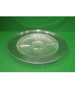 Vintage Hand Hammered Round Aluminum Metal Tray with Glass Insert Compar... - $21.46