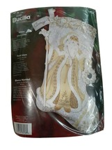 2006 Bucilla WHITE CHRISTMAS Felt Stocking Kit 85318 Sealed Father Chris... - $49.47