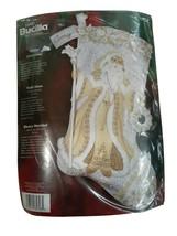 2006 Bucilla WHITE CHRISTMAS Felt Stocking Kit 85318 Sealed Father Chris... - $49.47