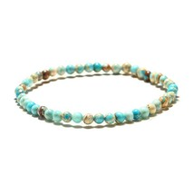 Minimalist 6 mm Natural Stone Beads Bracelet Charms Simple Small Beaded Braslet  - $11.33