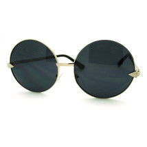 Super Oversized Round Circle Sunglasses Arrow Design Metal Frame - $7.95