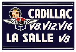 Reproduction Cadillac La Salle V8 Garage Shop Metal Sign 12x18 - $21.78