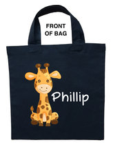 Giraffe Trick or Treat Bag, Giraffe Halloween Bag, Giraffe Loot Bag, Gir... - $11.99+