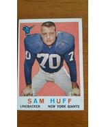 1959 TOPPS #51 SAM HUFF GIANTS ROOKIE Nice Card - $22.28