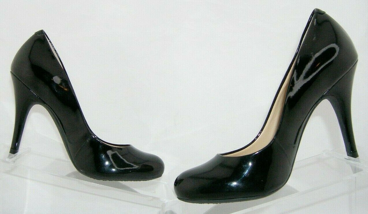 Jessica Simpson 'Oria' black man made round toe slip on pumps heels 6M