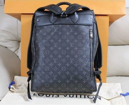 5bf9097719a7 LOUIS VUITTON LV STEAMER Bag M44052 Backpack Rucksack Monogram Black Auth  New