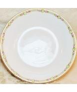 Antique Carrollton H Porcelain China Dessert Bowl 18kt Gold Trim Rose - $19.78