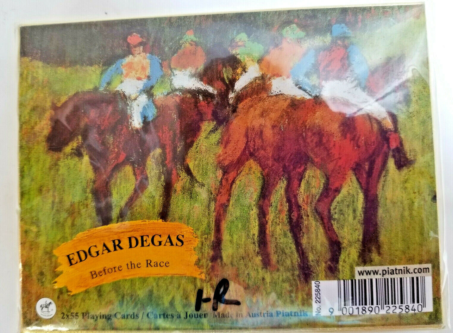 Primary image for Edgar Degas Before the Race Playing Cards Deck Horse Racing 2X55 Cards Piatnik