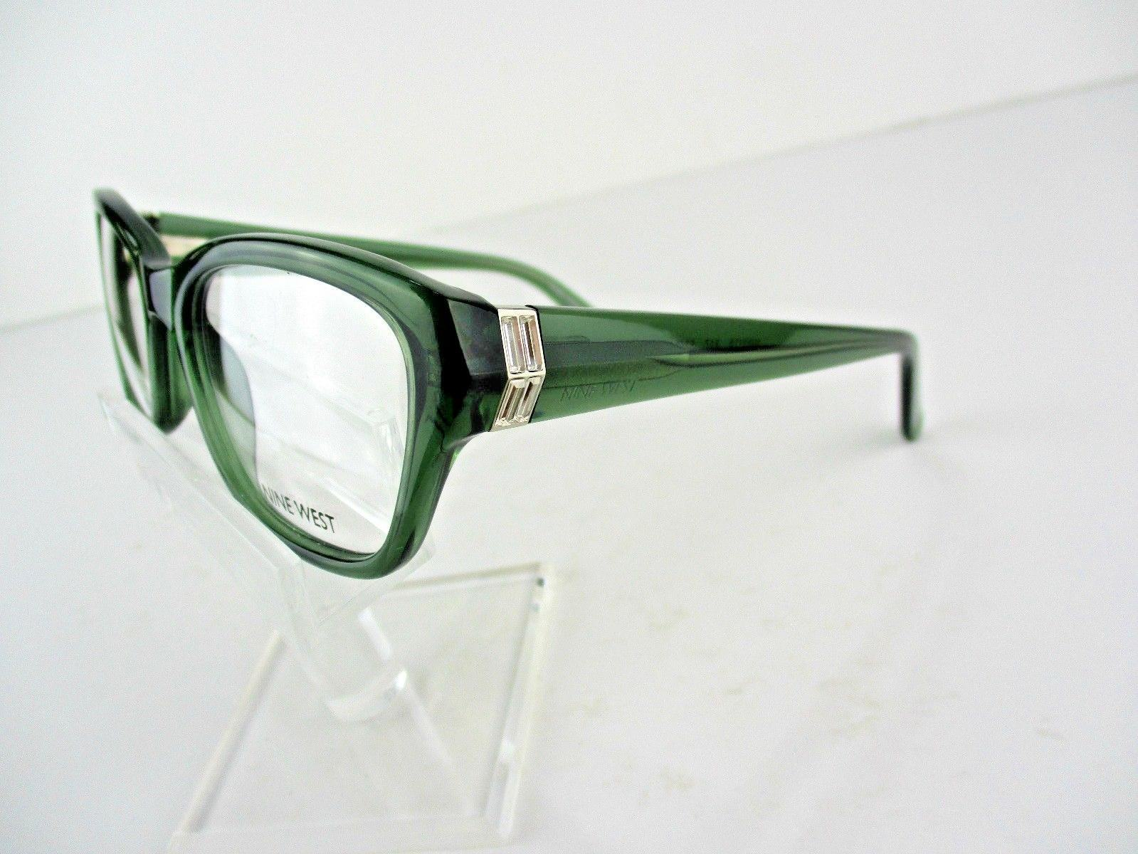 Nine West NW 5115 (317) Jade Crystal 52 x 18 135 mm Eyeglass Frames
