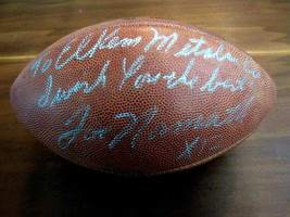 JOE NAMATH 1969 SBC NY JETS HOF SIGNED AUTO VINTAGE WILSON DUKE FOOTBALL... - $217.79