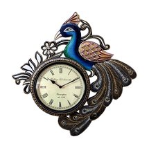 decorative peacock clock for home and office decorative arts  - $25.00