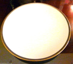 Hutschenreuther Dinner Plate White with Gold  046 34 Germany - $23.51