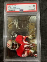 1994 Fleer Living Legends #4 Jerry Rice : San Francisco 49ers  PSA 8  l... - $49.00